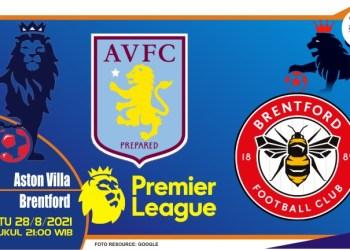 Prediksi Aston Villa vs Brentford - Liga Inggris 28 Agustus 2021