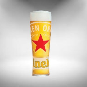 Heineken Red Star Beer Glass (2020)
