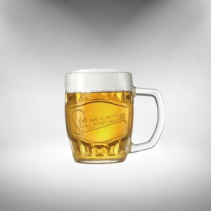 Staropramen Tankard Beer Glass (Clear Logo)