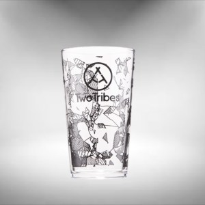 Two Tribes Pint Beer Glass