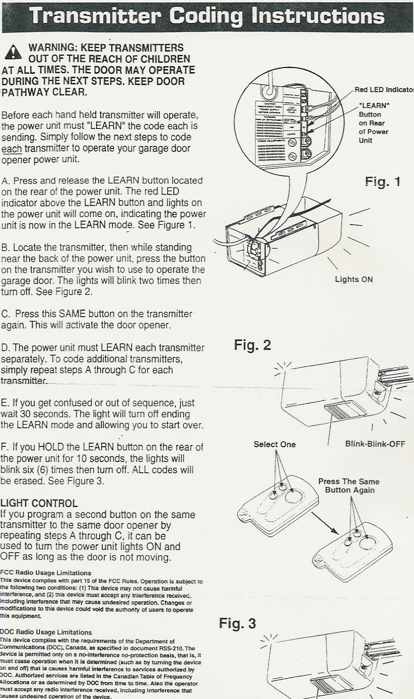 wiring diagram for chamberlain garage door opener electrical diagrams lighting stanley and gate operator securecode three button mini remote control ...