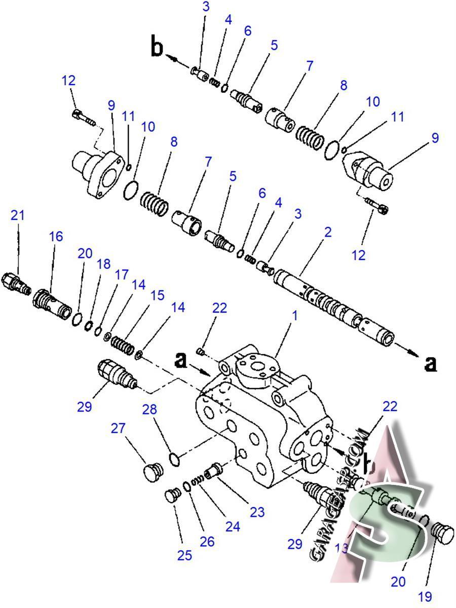 hight resolution of 600 komatsu wa420 3l check valve 702 13 23902