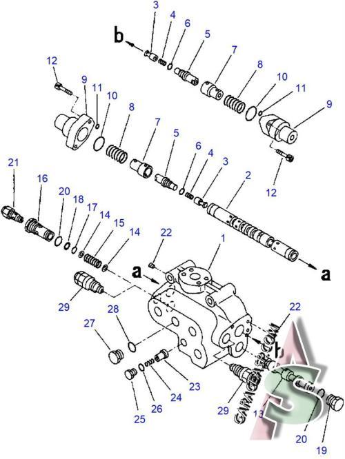 small resolution of 600 komatsu wa420 3l check valve 702 13 23902