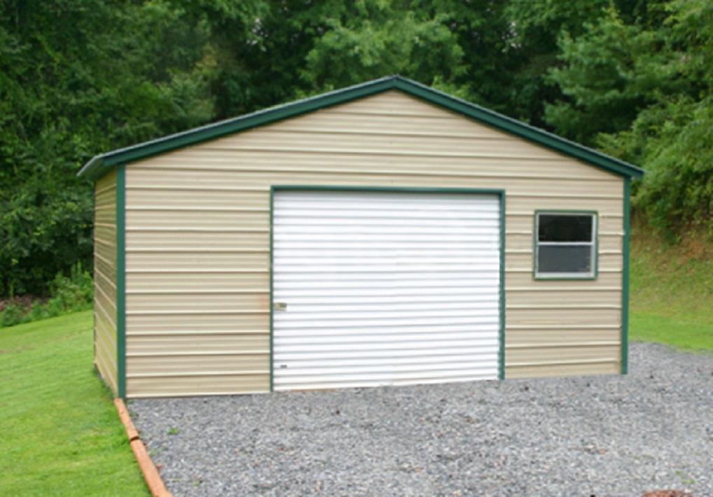 One Car Metal Garage Building Kits