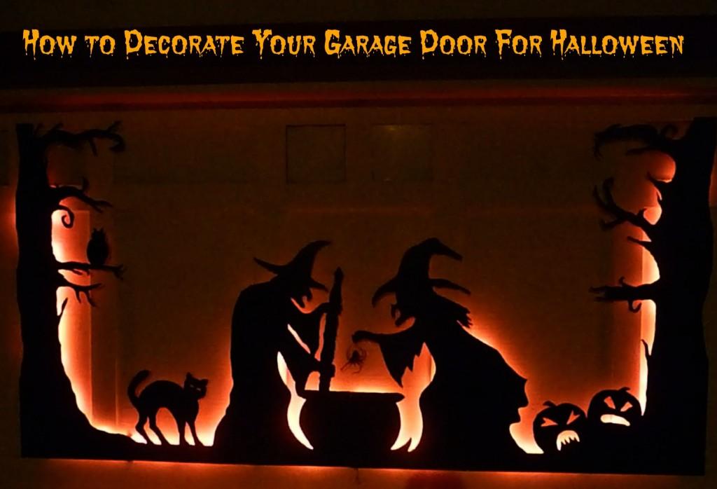 How to Decorate Your Garage Door For Halloween