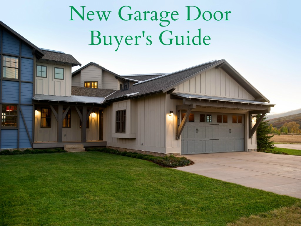 What You Need To Know About Buying A New Garage Door