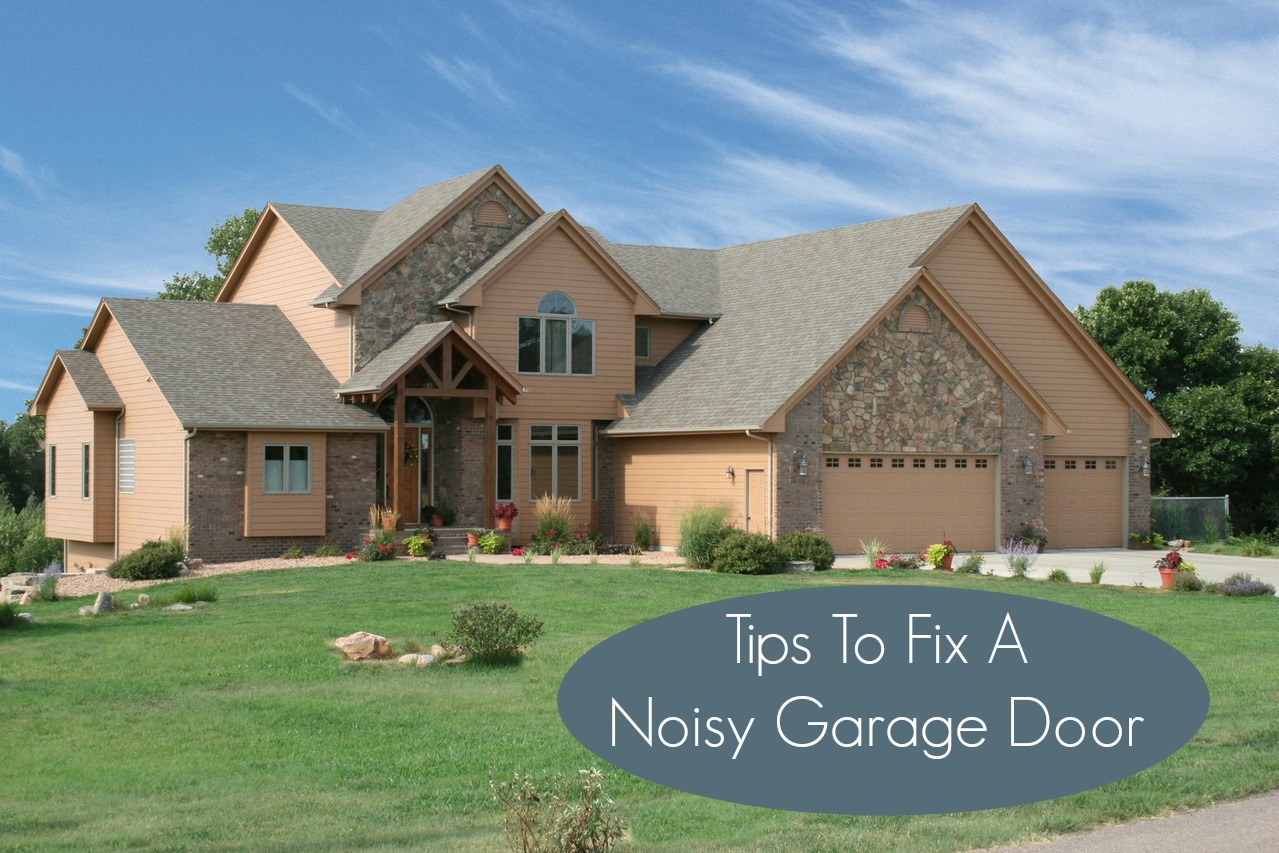Silencing A Noisy Garage Door  Neighborhood Garage Door
