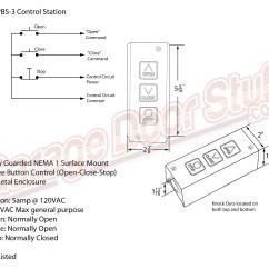 3 Phase Roller Door Wiring Diagram Crane Xr700 Overhead Open Close Stop Control