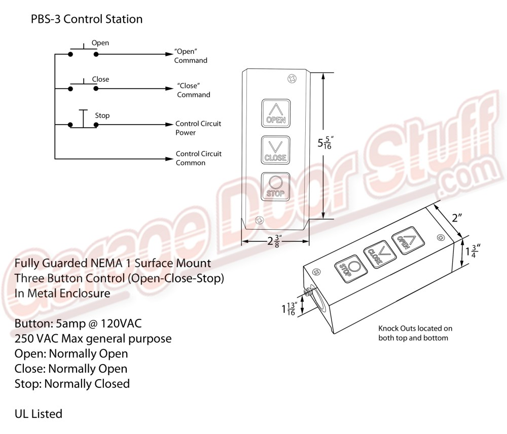 medium resolution of overhead door open close stop control rh garagedoorstuff com toggle switch wiring diagram toggle switch wiring