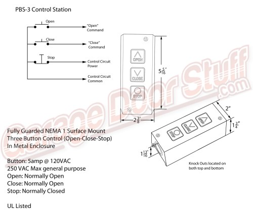 small resolution of overhead door open close stop control rh garagedoorstuff com toggle switch wiring diagram toggle switch wiring