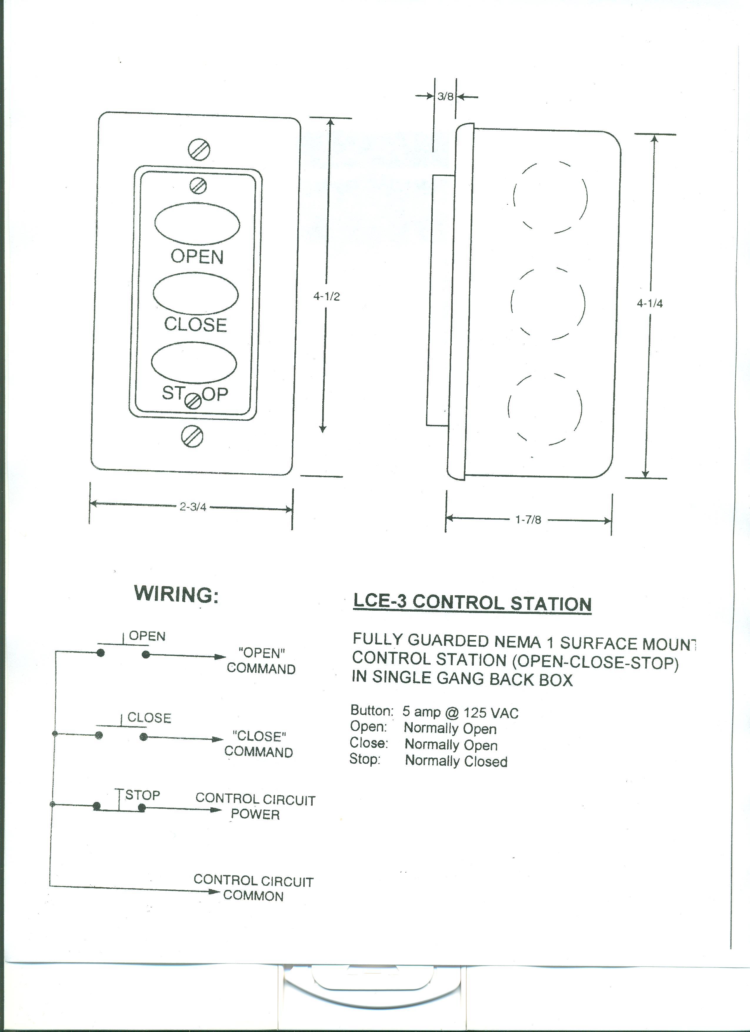 wiring diagram for liftmaster garage door opener set notation venn practice problems lce-3 three button station 001 - stuff