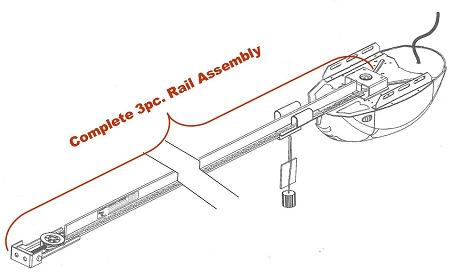Genie 38284R.S T-Rail Belt Drive Rail Assembly 3-Piece