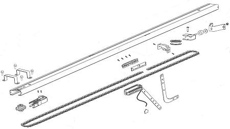38245R.S Intelli-G/ChainMax Chain Drive Rail Assembly