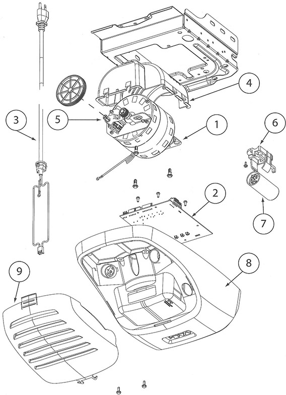 Genie 2564, 2562 Garage Door Opener Parts Diagram