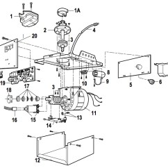 Lift Master Garage Door Wiring Diagram 1969 Ford Mustang Ignition Switch Liftmaster 1246, 1256 Opener Parts