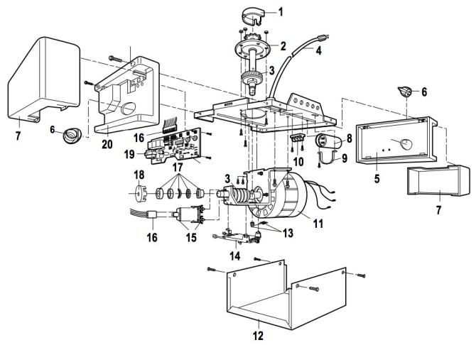 chamberlain whisper drive garage door opener wiring diagram