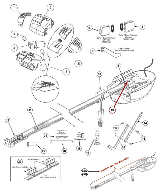 small resolution of genie 1022 1024 1042 parts schematic breakdown replacing genie 1022 1024 or 1042 garage door opener