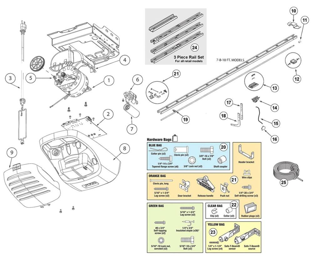 medium resolution of  garage door opener replacement remote controls genie powerlift 900 and g power 900 parts schematic