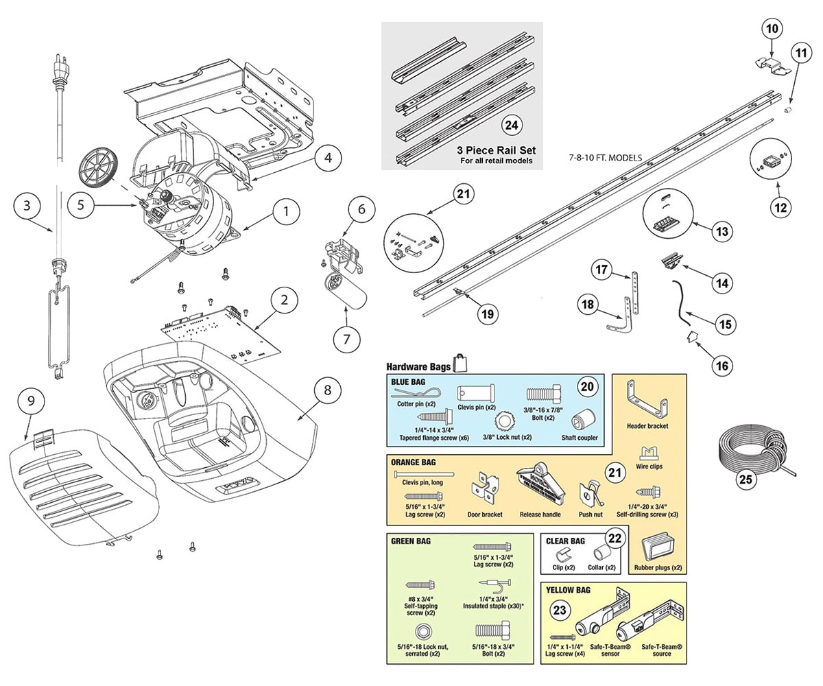 hight resolution of  garage door opener replacement remote controls genie powerlift 900 and g power 900 parts schematic