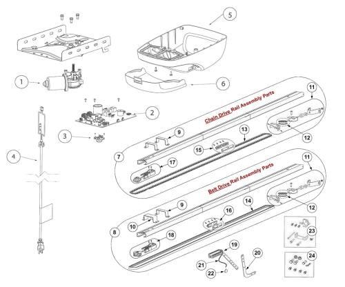 small resolution of genie 3024 4024 3022 4022 3042 4042 garage door opener parts