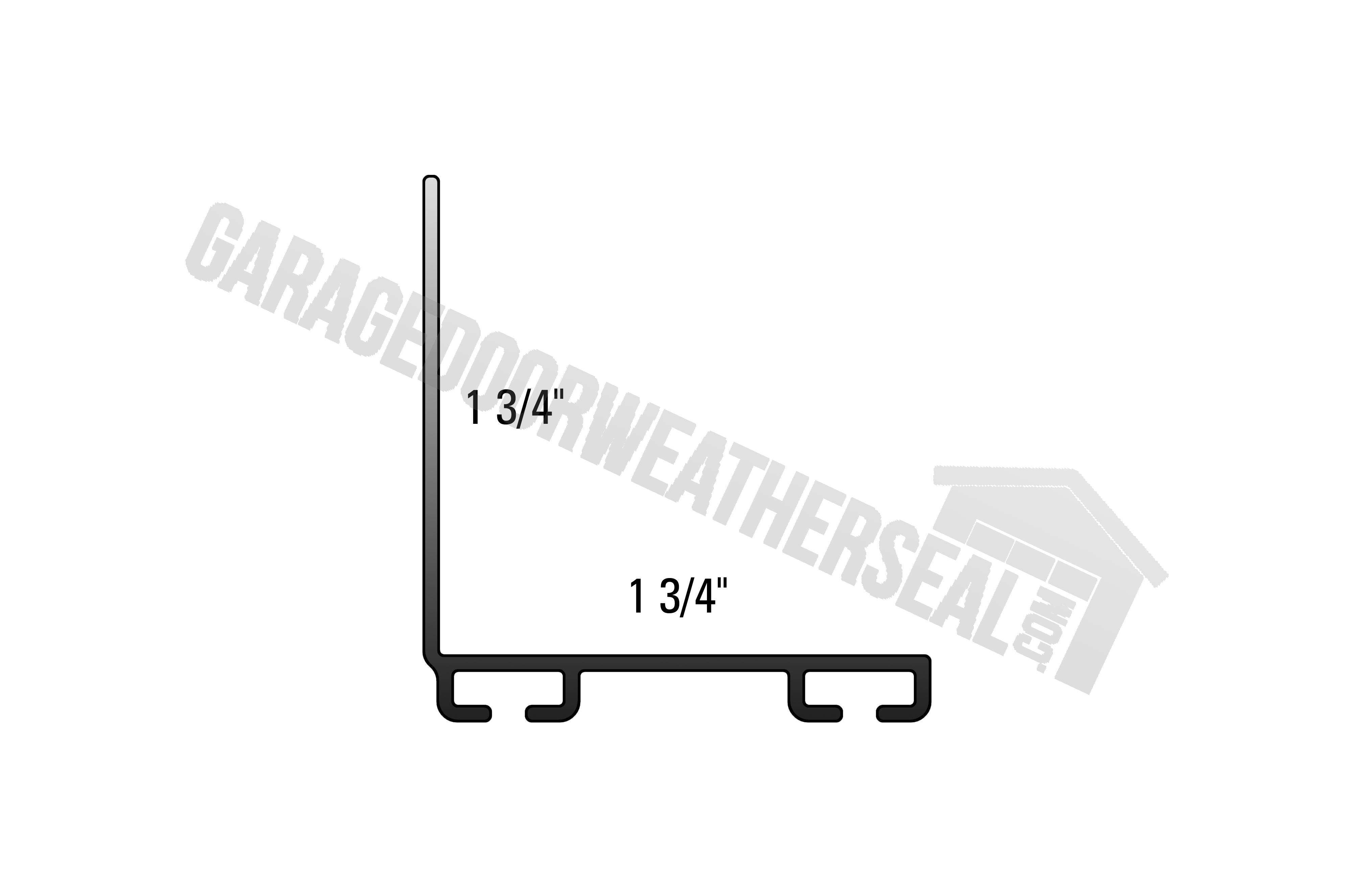 Garage Door Seal Retainer 1 3 4 X 1 3 4