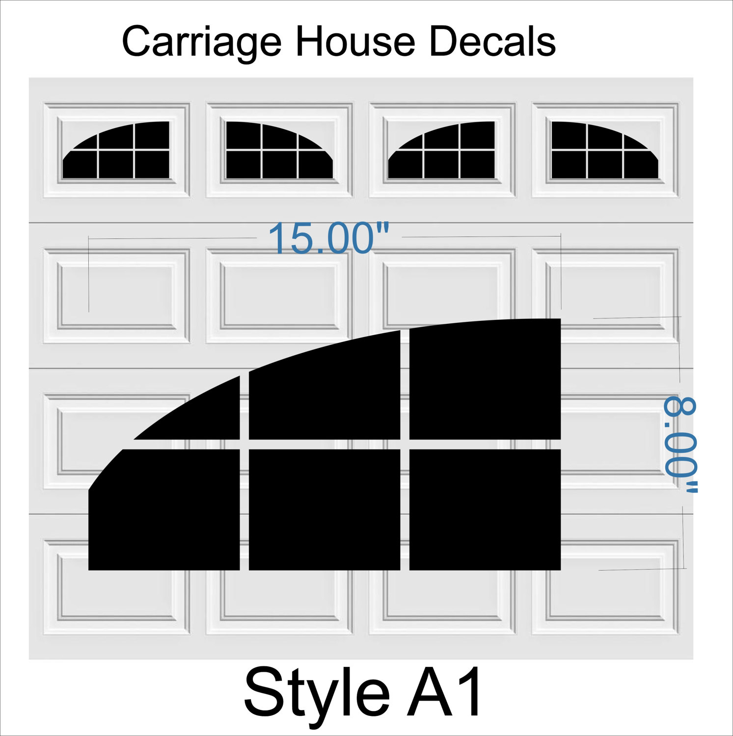 Garage Door Vinyl Window Decals