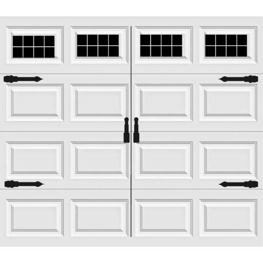 Craftsman 8 Pane Version 3 Style Faux Window Garage Door ...