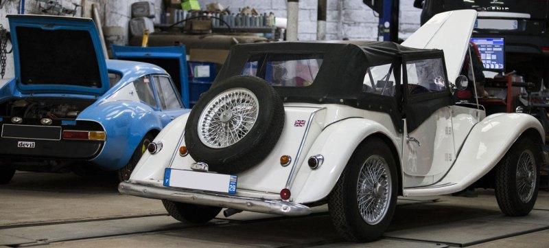 Equilibrage des roue sur voiture ancienne de collection à Quimper