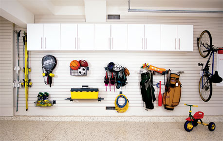 Sports Equipment Storage Systems Garage Slatwall Storage