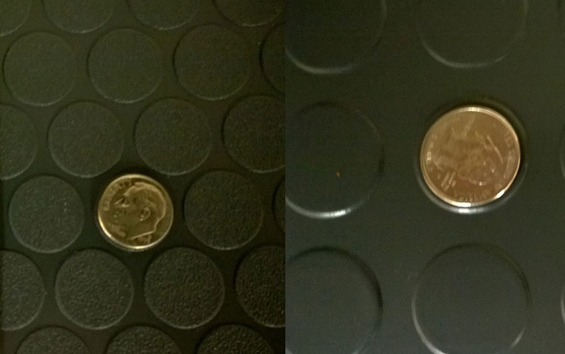 Small Coin Vs Large Coin Garage Floor Mats from Garage