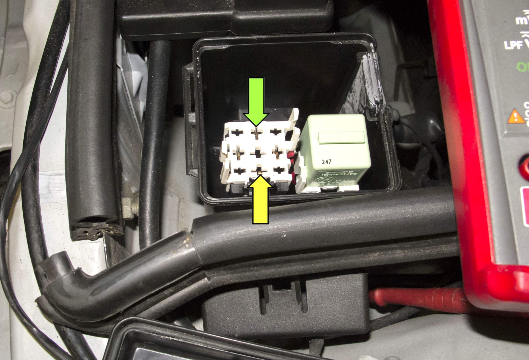 hight resolution of fuel injection dme relay testing