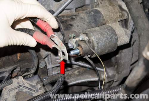 small resolution of m54 6 cylinder engine starter replacement