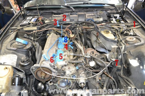 small resolution of the fuel vacuum lines run from 1 the control valve 2 a y splitter 3 fuel pressure regulator 4 intake manifold 5 fuel dampener 6 y splitter