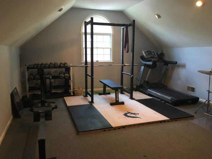 diy weightlifting platform with