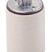 Leviton 10045 Medium Base, One-Piece, Keyless, Incandescent, Glazed Porcelain Lampholder, White