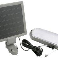 Designers Edge L949 10-LED Rechargeable Solar-Panel Security Light