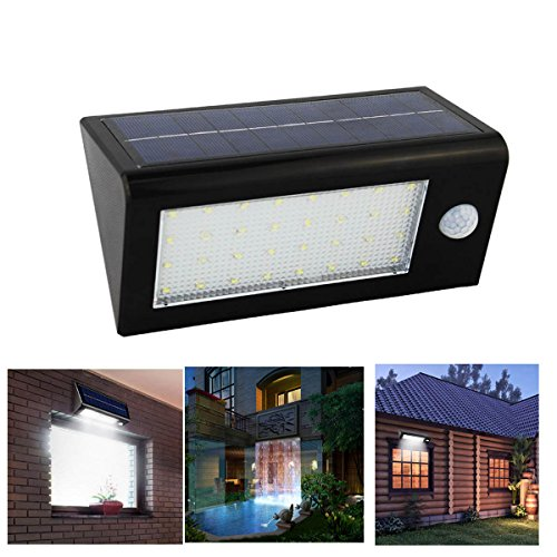Senbowe™New Upgrade 400 Lumen 32 LED IP65 Waterproof Solar Motion Sensor  Lights Outdoor /Solar Sconces Wall Lighting/ Security Lights/Solar Wall  Lights ...