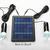 Best to Buy® 5W Solar Panel DIY Lighting Kit, Solar Home System Kit, Portable Solar Charger with LED Light Bulb Flashlight as Emergency Light/ Garage Cabin RV Wireless Lighting System/ Camping Trekking Search & Rescue Remote Lighting Kit