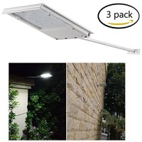 FAMI Waterproof Solar Powered LED Light / Wall Light / Security Night Light / Signage Lighting for Outdoor, Perimeter, Fence, Garden, Deck Posts, Garage, Backyard, Trees, Steps, Barn (3 Pack)