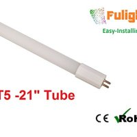 "Fulight Easy-Installing ¤ F13T5/CW LED Tube Light - 21"" Inch 6W (13W Equivalent), Cool White 4000K, Double-End Powered, Frosted Cover- 110/120VAC"