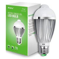 iRainy E27 7w PIR Infrared Sensor Motion Light Bulb, Warm White