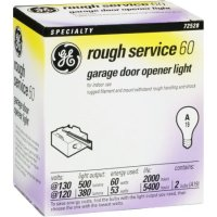 GE Lamps 72529 60-Watt A19 Garage Door Opener, 2-Pack