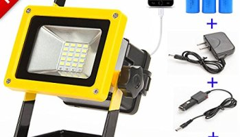 Loftek 10w led work lightportable work lights with 8800mah sunzone 10w 24 led portable work lights flood light for camping fashing car repairing lighting with mozeypictures Image collections