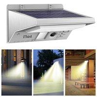 Solar Security Lights, iThird 21 LED Motion Sensor Wall ...