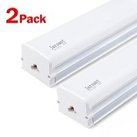Jarsant T15 Super Bright White LED Shop Light LED Tube Lamp, 4ft Workbench Light 6500K 4000lm 40W ( 100W Equivalent ) , Built-in ON/OFF Switch Frosted Linear LED Light Bar - 2-pack