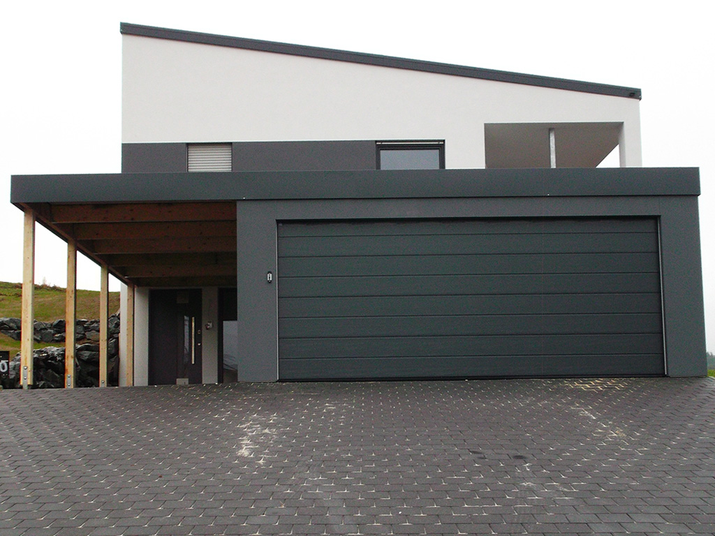 doppelgarage mit carportanbau fertiggarage multi