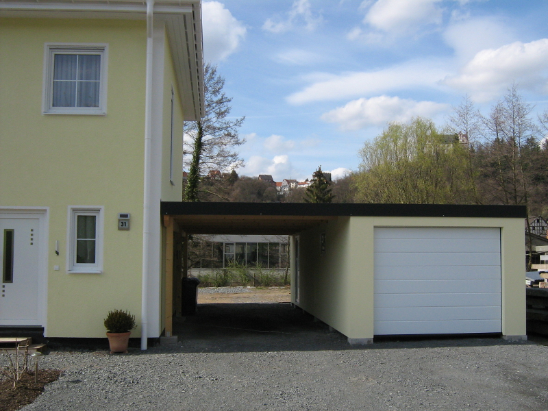 Garagen Carport Kombination