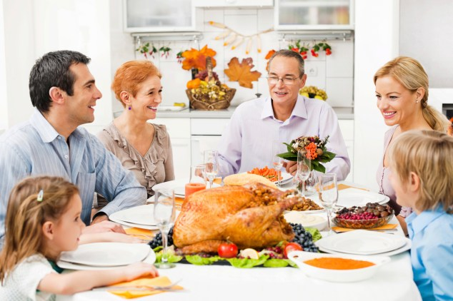 Pros and Cons of having Thanksgiving dinner at your parent's house.
