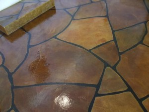 Concrete and Epoxy Garage Floor