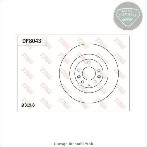 DF8043 Coppia dischi freno TRW Anteriore MAZDA CX-9 CX-7